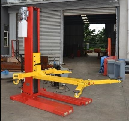 China Hydraulic Home Garage Single Post Car Lift For