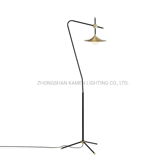 Modern Minimalist Hotel Room Decoration Metal Glass Floor Lamp Km6009 pictures & photos