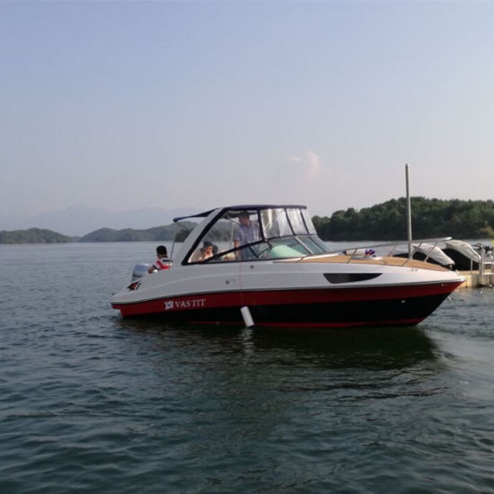 7.3m Fiberglass Luxury Yacht Boat with Outboard Engine for Sale
