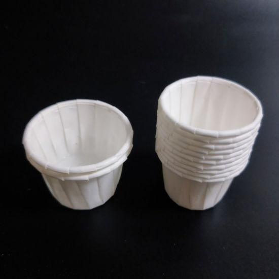 White Greaseproof Mini Waxed Paper Pill Cups Disposable Paper Medicine Cups