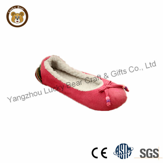 Lady Warm Winter Ballet Slipper Shoes pictures & photos