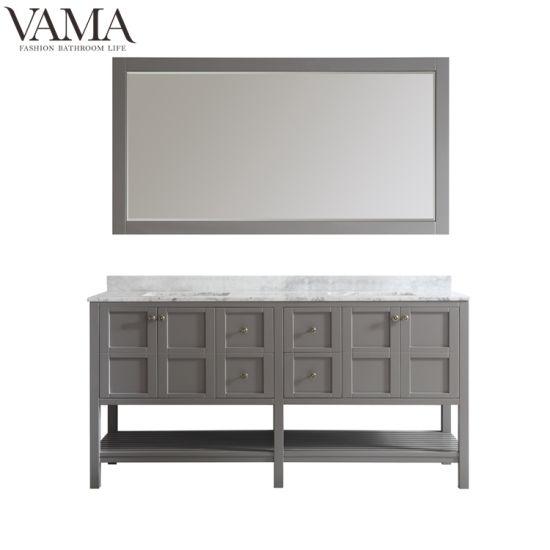 Vama 72 Inch Floor Standing Espresso Color Modern Bathroom Furniture 713072