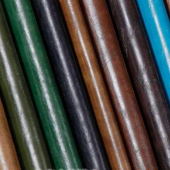 PVC Burnished Leather for Bags, Handbags, Sofa, Furniture, Chairs. Flame-Retardant