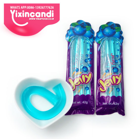 Halal Blueberry Flavor Jelly Stick Candy