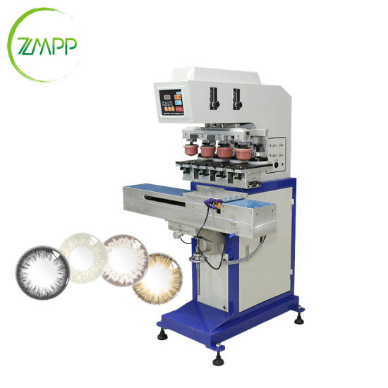 Manufacturer 4 Color Pad Printing Machine for Contact Lenses