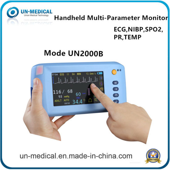 Ce Approved ICU Operating Room Touch Screen Type Etco2 Optional Multipara  Patient Monitor