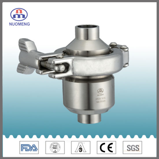 Sanitary Stainless Steel Welding Check Valve with Clamp NM14033 pictures & photos