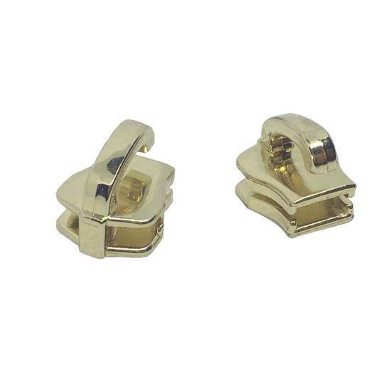 Stainless Steel Custom Design Zipper Slider Zipper Head Zipper Stops Zipper Puller Custom Brand Logo for Garment Handbags Shoes