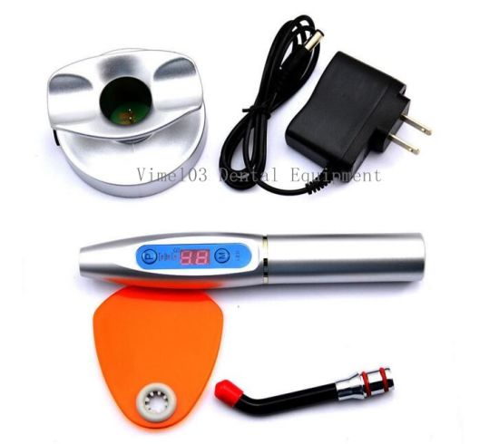 Dental LED Curing Light Lamp Wireless 5W 1500MW Blue Light Plastic pictures & photos