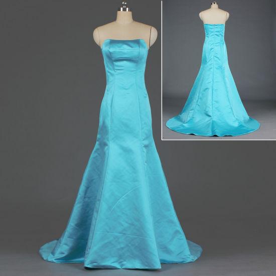 Ladies Simple Satin Mermaid Evening Gown Long Bridesmaid Dress E377