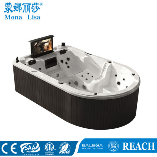 Monalisa Outdoor Whirlpool Jacuzzi Hot Tub SPA with TV (M-3361) pictures & photos