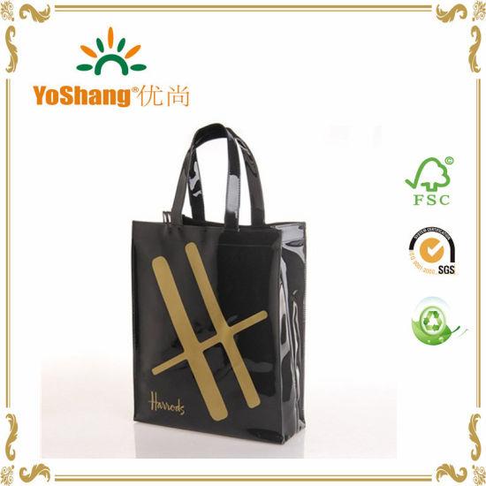China Custom Made Pvc Vinyl Shopping Bag Shiny Shopper