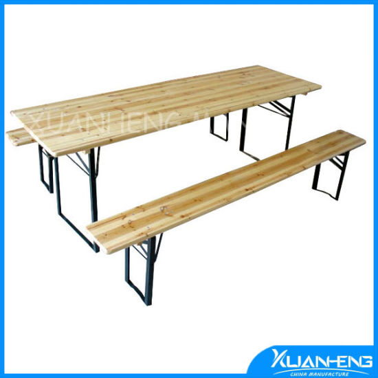 China Wooden Beer Table Set Garden Furniture Beer Table - China Beer ...