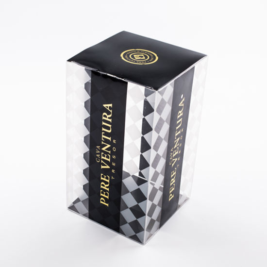 Custom Printed Clear Gift Plastic Box Packaging for Wine
