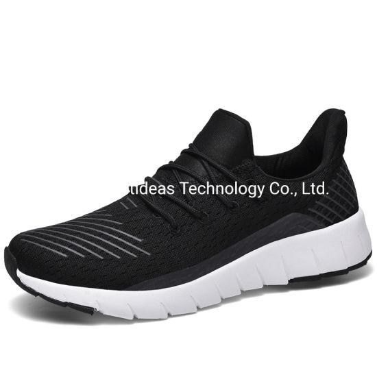 Hot Sale Flyknit Upper Black Sport Men Fashion Sneaker Shoes