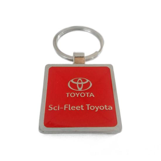 Hot Sales Printed Logo Metal Keychains