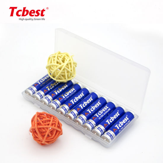 Long Shelf Life Primary Dry Cell Plastic Box 10PCS Packaging 1.5V AAA Lr03 Am4 AA Lr6 Alkaline Battery for MP3 and Toys for Wireless