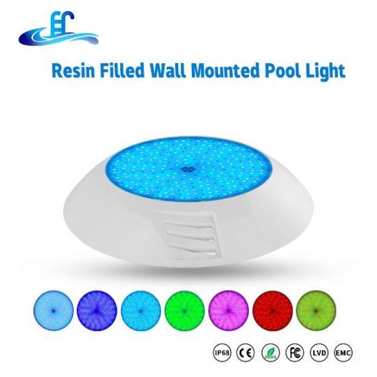 24watt IP68 Resin Filled Flat LED Swimming Pool Underwater Light