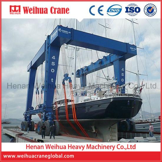 Weihua Travelling Hydraulic Electric Boat Lifting Gantry Crane