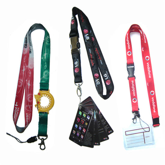 Printed Customized Promotional Bottle Holder Lanyard Swivel Hook Supply Sport Short Strap