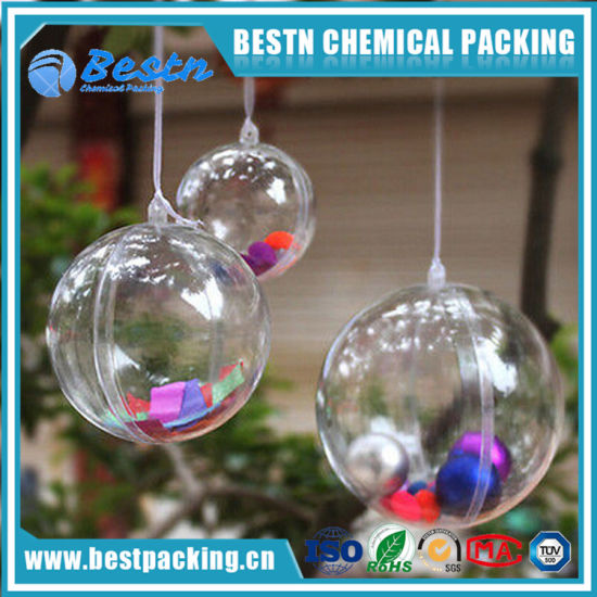 China Excellent Quality Clear Plastic Christmas Ball For Tree
