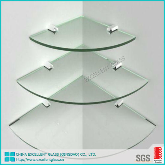 China Quarter Round Clear Tempered