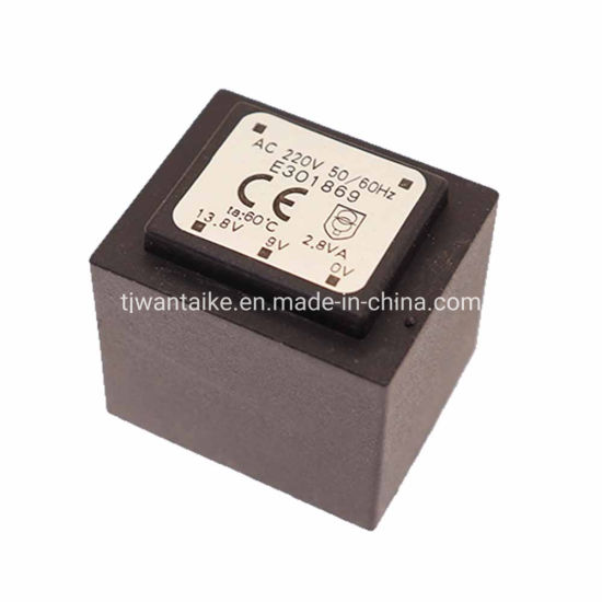 E301869 Double Output Laminated Transformer for PCB Mount