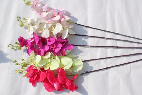 China Artificial Butterfly Orchid Silk Flower Bouquet Wedding Home