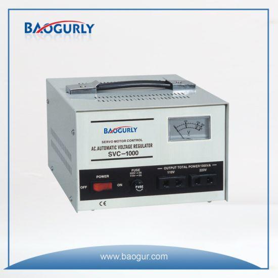 Single Phase Meter display SVC-1000va Servo Motor Voltage Regulator