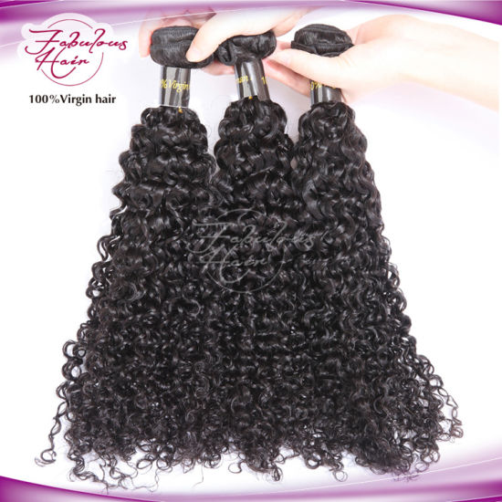 8A Fashion Curly Indian Virgin Remy Hair Weave pictures & photos
