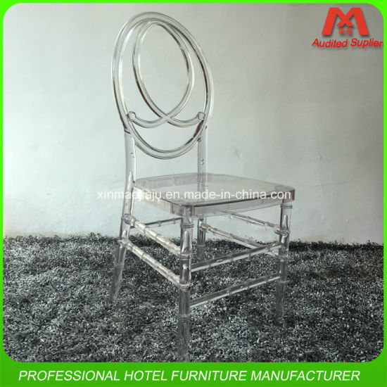 Factory Competitive Price Transparent Acrylic Hotel Wedding Chair