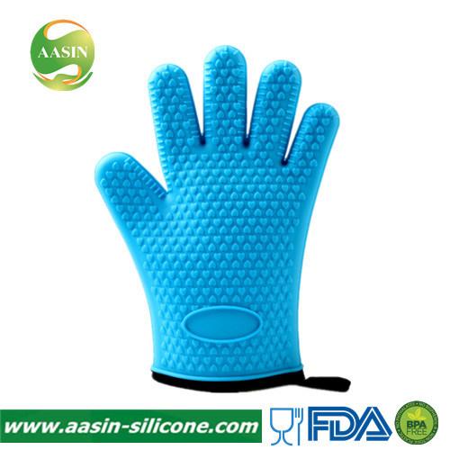 FDA Silicone Heat Resistant BBQ Gloves Oven Mitt Pot Holder Oven Gloves for Kitchen
