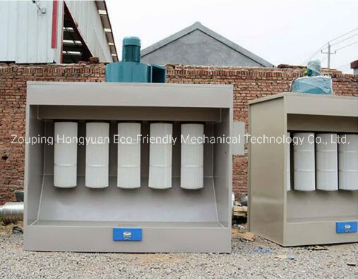 Spray Booth for Electrostatic Powder Coating with Curing Oven
