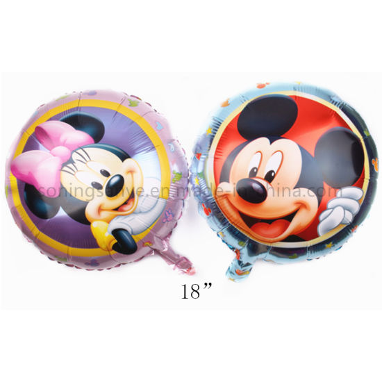 Dto0252 Kids Toy 18 Inch Round Cartoon Mickey Mouse Foil Balloon