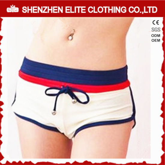 Women′s Newest Design Swimwear Shohrts White Summer (ELTBSI-30) pictures & photos