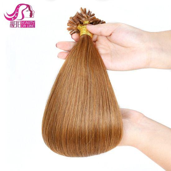 Keratin Flat I or U-Tip Straight Hair Extension (WHH-KU--002)