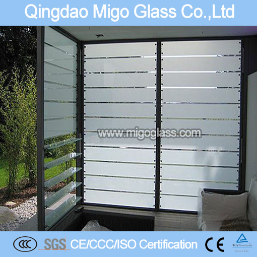 Clear/Bronze Louver Glass Blade with SGS Certification