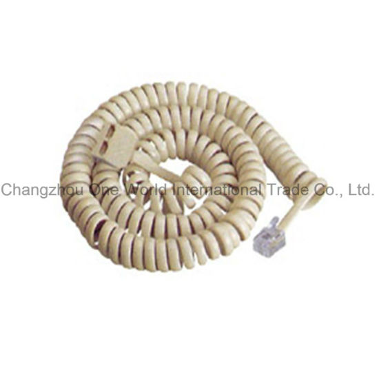 Telephone Extension Cord Male to Female W/2 Plug, Coil Cord