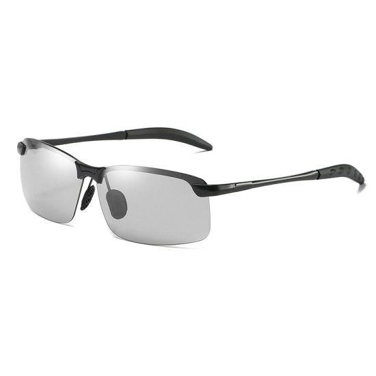 Men Photochromic Polarized Retro Sunglasses Day and Night Driving Sports Glasses