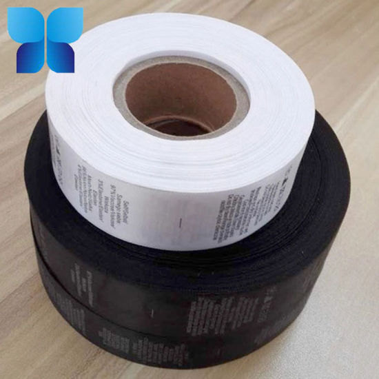 China Custom Polyester Washing Care Label