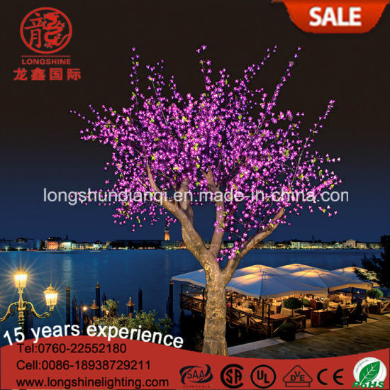 Pink Waterproof LED Palm Cherry Tree Light For Christmas Light