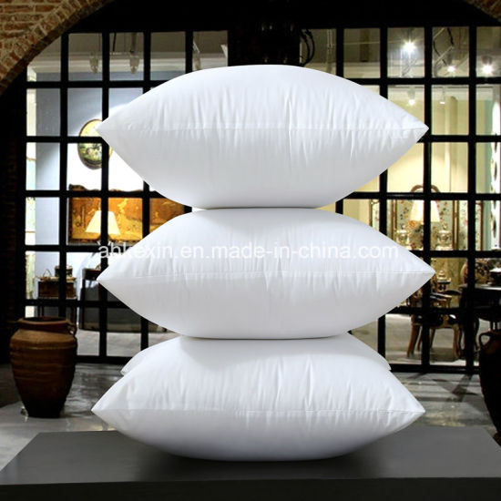 2-4cm White Duck Feather Pillow Insert with Cotton Fabric pictures & photos
