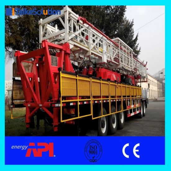 China Heavy Duty Land Workover Rig Xj450 for Oil Field with