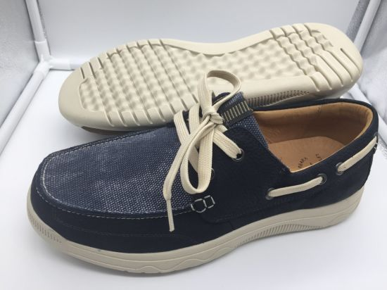 Fashion Men Shoes with Leather Upper and Rubber Outsole