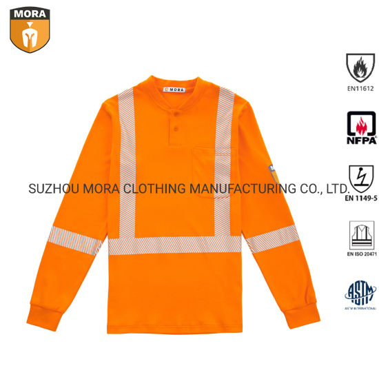 Workwear Fr Clothing 100% Fr Cotton Reflective Shirt pictures & photos