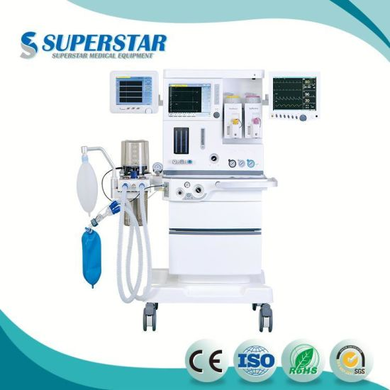 ICU Anesthesia Machine System S6100plus With10.4 Inch TFT LCD Touch Screen pictures & photos