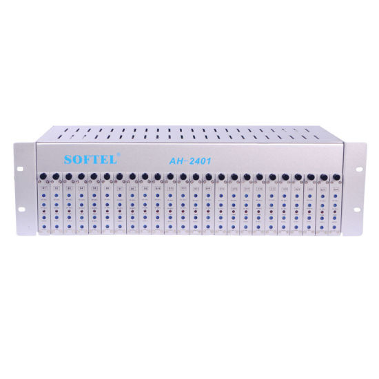 Hfc Network CATV RF 24 Ways Fixed Channel Analog Modulator with Combiner
