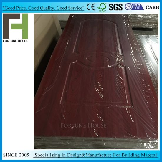 Moulded Raw HDF MDF Melamine Door Skin Price pictures & photos