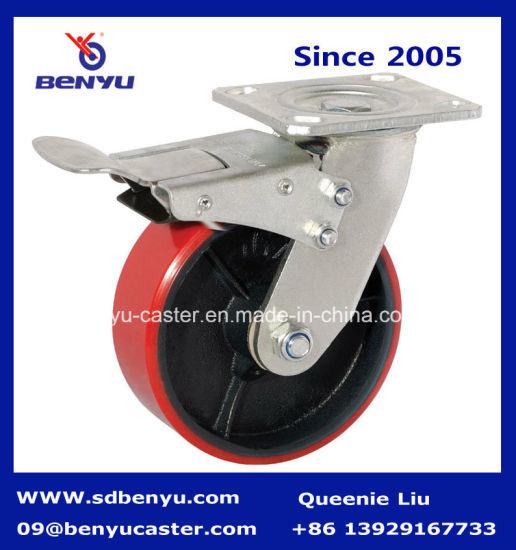 Heavy Duty Caster Swivel with Brake