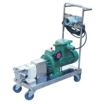 Stainless Steel Lobe Rotor Pump with Cart